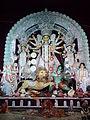Durga with Her Family - Baghbazar Sarbojanin Durgotsav - Nivedita Park - Kolkata 2013-10-13 01815.jpg