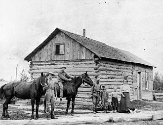 Dutch Americans - Typical Dutch homestead in Northeast Wisconsin, circa 1855