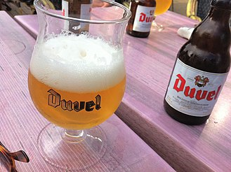 Duvel Moortgat Brewery - Duvel beer served in a cafe
