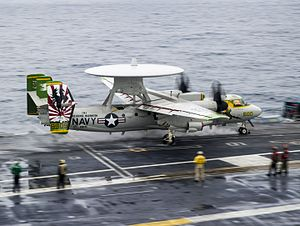 VAW-115 - Image: E 2C of VAW 115 is launched from USS George Washington (CVN 73) in July 2014
