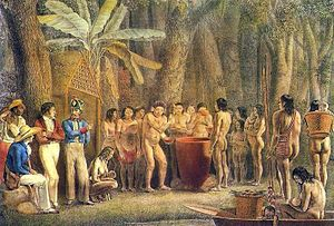 Petrópolis - Painting depicting drinking party of the crowned indians.
