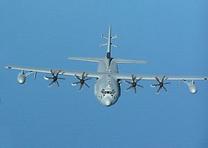 Lockheed EC-130 - The EC-130J Commando Solo with its distinctive tail antenna.