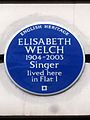ELISABETH WELCH 1904-2003 Singer lived here in Flat 1.jpg