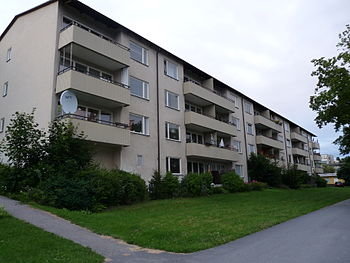 English: Apartment building in Sätra
