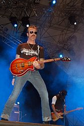 "Jesse ""The Devil"" Hughes am 2. September 2006 bei Rock in Idro"