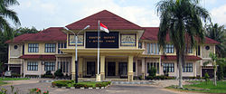 The regent's office in Sukadana