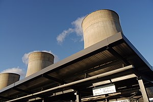 East Midlands Parkway railway station - East Midlands Parkway is built next to Ratcliffe-on-Soar power station.