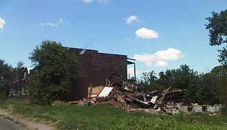 East St. Louis, Illinois - Urban blight in East St. Louis.