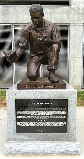Ed Temple - The Coach Ed Temple statue at First Tennessee Park in Nashville