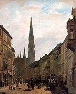 Eduard Gärtner, Gemälde von 1863, Berlin, Brüderstraße und Petrikirche