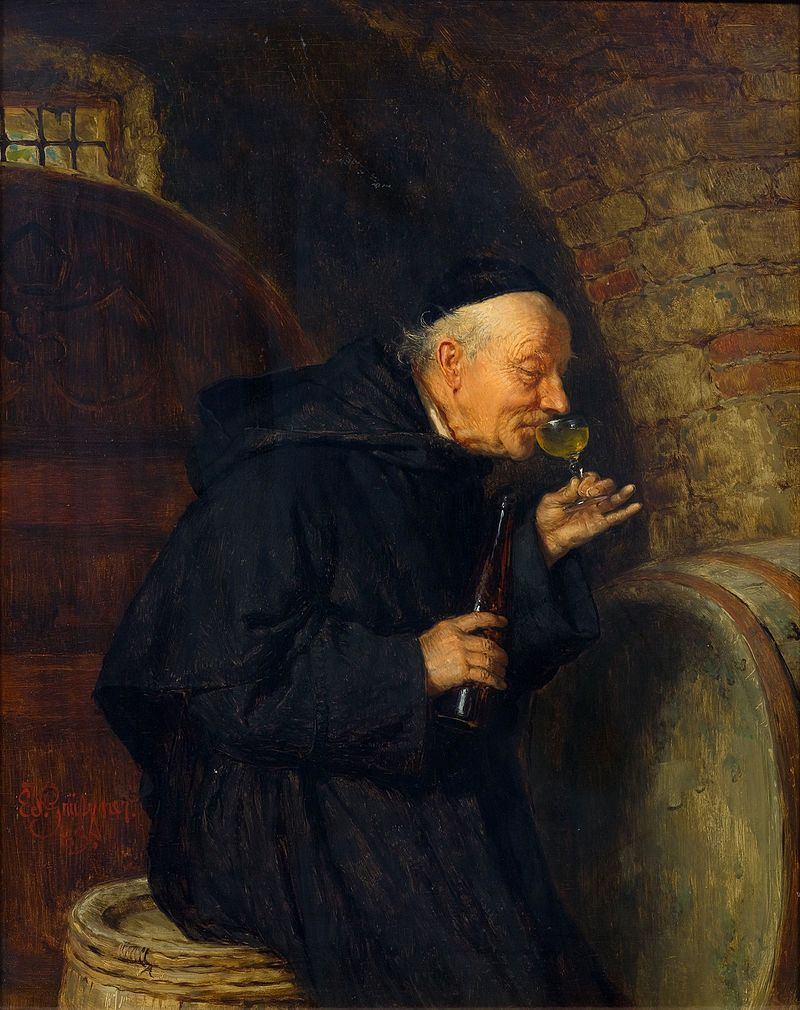 Eduard Grützner Der erste Schluck 1883.jpg