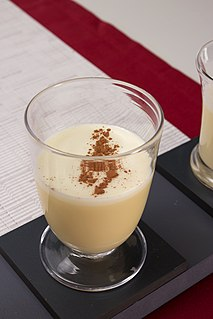 Eggnog Sweetened dairy-based beverage