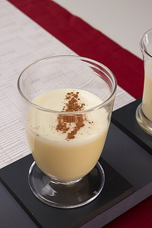 Eggnog - Eggnog with cinnamon