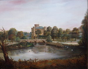 Irvine, North Ayrshire - Eglinton Castle, home of the Earls of Eglinton, c. 1830s.