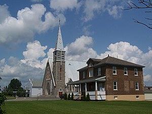 Saint-Quentin, New Brunswick - Image: Eglise et Presbytere de Saint Quentin