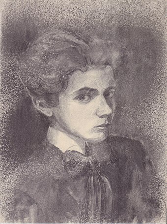 Schiele aged 16, self-portrait from 1906