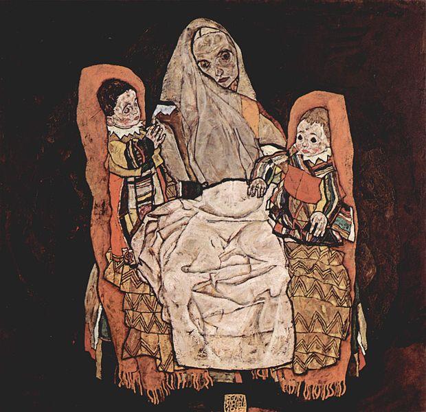 Mutter mit zwei Kindern
