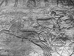 Ramsès II guerrier sur son char, à la tête de son armée - Abou Simbel