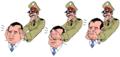 Egypt PM Essam Sharaf and 3 SCAF monkeys.png