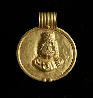 Serapis - This pendant bearing Serapis's likeness would have been worn by a member of elite Egyptian society. Walters Art Museum, Baltimore.