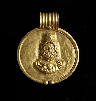 Egyptian - Pendant with Image of Sarapis - Walters 571524 - Front View B.jpg