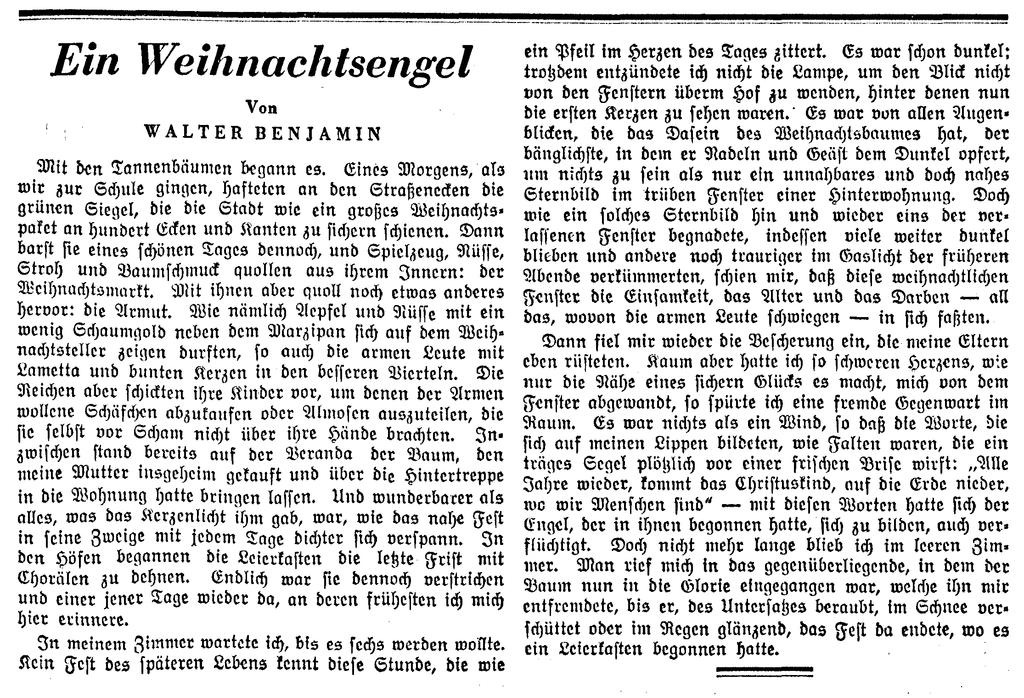 Ein Weihnachtsengel-Vossische Zeitung-1932