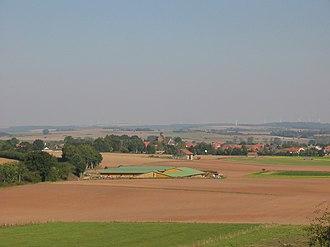 Eissen - Eissen seen from the hill Hüssenberg