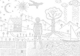 Calligram - Image: El Cal·ligrama més gran del món (26517405610)