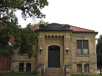 National Register of Historic Places listings in Butler County, Kansas - Image: El Dorado, KS public library building funded by Andrew Carnegie