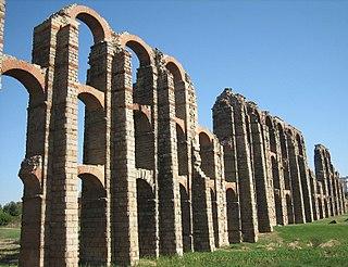 Acueducto de los Milagros aqueduct in Mérida, Spain