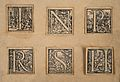 Eleven decorated initials from the Basel 1555 edition Wellcome V0010435.jpg