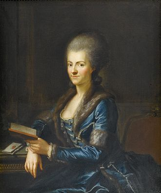 Anton Graff - Elisabeth Sulzer, née Reinhart (1765/66). Elisabeth Sulzer and Oskar Reinhart have common ancestors. Oskar Reinhart was a patron of the arts and an art collector. Among others he collected paintings by Anton Graff. Part of his vast collection is at the Museum Oskar Reinhart in Winterthur.
