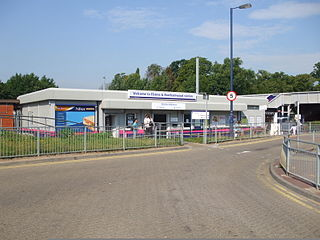 Elstree & Borehamwood railway station station in Hertsmere district of Hertfordshire, England