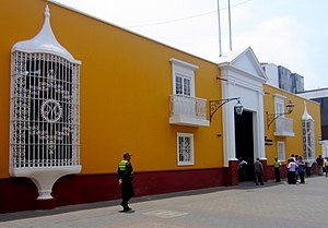 """Independence of Trujillo - """"Casa de la Emancipación"""", seen here, is where Torre Tagle planned the Independence of Trujillo on 29 December 1820. Located in the Historic Centre of Trujillo; it currently houses cultural exhibitions and a museum."""