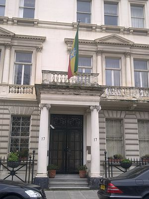 Embassy of Ethiopia, London - Image: Embassy of Ethiopia in London 1