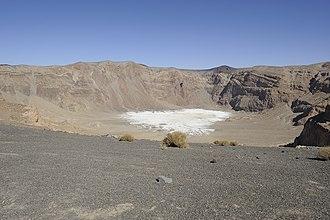 Emi Koussi - Natron in the Era Kohor Crater at the summit of Emi Koussi