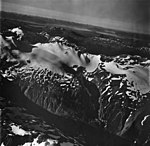 Endicott River and Chilkat Mountains, ice covered mountains, September 12, 1973 (GLACIERS 5422).jpg