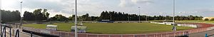 Enfield Town F.C. - Pitch of Queen Elizabeth II Stadium during the 2017 off-season
