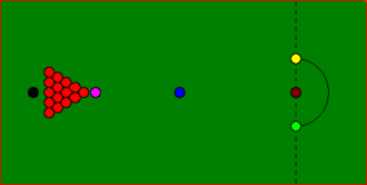 Rack (billiards) - Snooker table in starting position