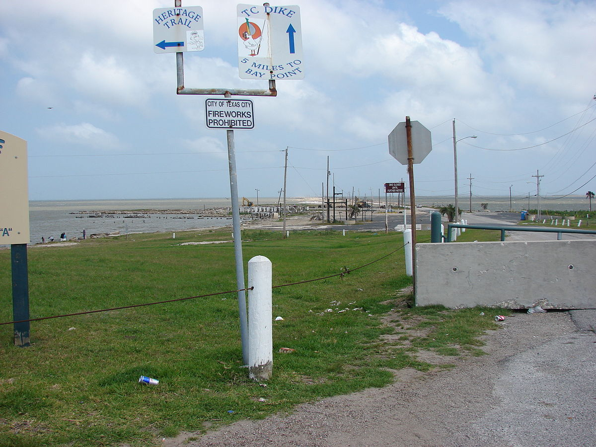 Texas city dike wikipedia for Texas city dike fishing