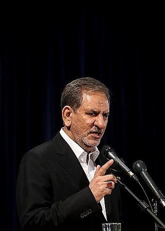 Eshaq Jahangiri - Image: Eshaq Jahangiri at Interior Ministry for 2017 presidential nomination 06