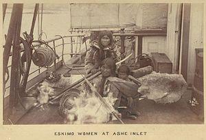 Nunavut - Inuit women at Ashe Inlet, 1884.
