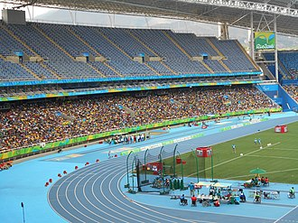 São Tomé and Príncipe at the 2016 Summer Olympics - The Olympic Stadium of Rio, also known as Estádio Olímpico Nilton Santos in Portuguese. The venue held the nearly all of the track and field events.