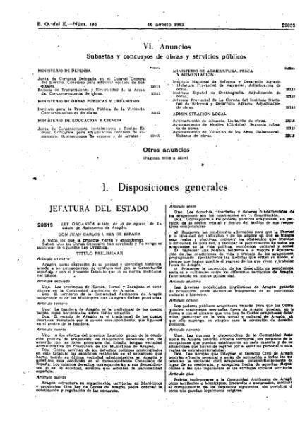 File:Estatuto de Autonomía de Aragón de 1982.djvu