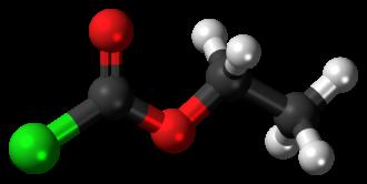 Ethyl chloroformate - Image: Ethyl chloroformate 3D ball