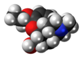 Ethylmorphine molecule spacefill.png
