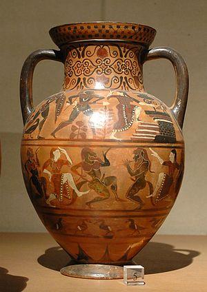 Ceramic art - Image: Etruscan amphora Louvre E703 side B