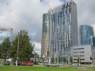 Europa Tower - Image: Europa tower and Vilnius muyncipality