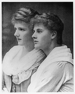 Eva Selina Laura Gore-Booth and her sister Constance Gore-Booth, later known as the Countess Markievicz.jpg