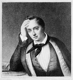 Golden Age of Russian Poetry - Image: Evgeny Boratynsky by Francois Frederic Chevalier (1812 1849)